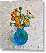 He Loves Me Bouquet Metal Print by Frozen in Time Fine Art Photography