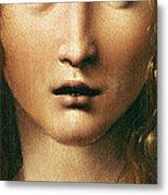 Head Of The Savior Metal Print by Leonardo Da Vinci