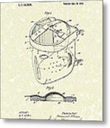 Head Protector 1914 Patent Art Metal Print by Prior Art Design