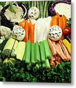 Healthy Veggie Snack Platter - 5d20688 Metal Print by Wingsdomain Art and Photography