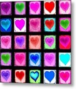 Heart Collage Metal Print by Cindy Edwards
