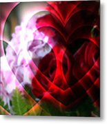 Hearts A Fire Metal Print by Kay Novy