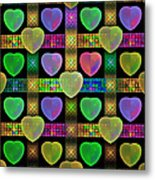 Hearts Metal Print by Sandy Keeton