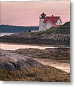 Hendricks Head Light At Sunset Metal Print by At Lands End Photography