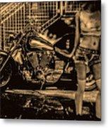 Her Bike Metal Print by Bob Orsillo