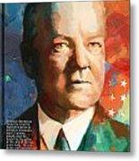 Herbert Hoover Metal Print by Corporate Art Task Force