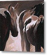 Herd Of Horses Metal Print by Natasha Denger