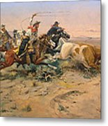 Herd Quit Metal Print by Charles Russell