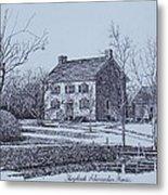 Hezekiah Alexander House Etching Metal Print by Charles Roy Smith