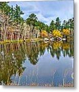 Hiawatha Lake Panorama Metal Print by Baywest Imaging