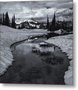 Hidden Beneath The Clouds Metal Print by Mike  Dawson