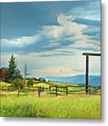 High Country Farm Metal Print by Theresa Tahara