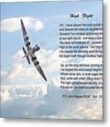 High Flight Metal Print by Pat Speirs