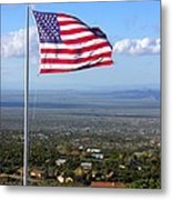 High Flyer American Flag Metal Print by Sindi June Short