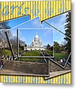 High On A Hill In Paris - Sacre Coeur Metal Print by Mark E Tisdale