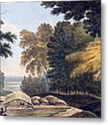 Hill Village In The District Of Bauhelepoor Metal Print by William Hodges
