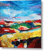 Hills In Dream 2 Metal Print by Becky Kim
