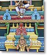 Hindu Temple Deity Statues Metal Print by Tim Gainey