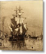 Historic Seaport Schooner Metal Print by John Stephens