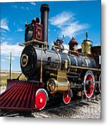 Historic Steam Locomotive - Promontory Point Metal Print by Gary Whitton