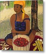 History Behind Caribbean Food Produces Metal Print by Nicole Jean-Louis