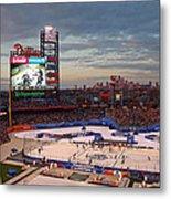 Hockey At The Ballpark Metal Print by David Rucker