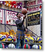 Hoop Shots Metal Print by Rory Sagner