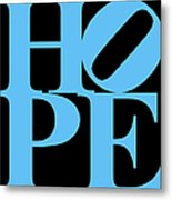 Hope 20130710 Blue Black Metal Print by Wingsdomain Art and Photography