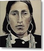 Hopi Woman Of The First Light Metal Print by Terri Ana Stokes