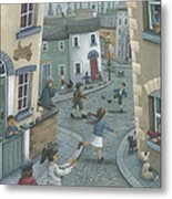 Hopscotch Down The Hill Metal Print by Peter Adderley