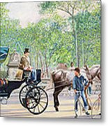 Horse And Carriage Metal Print by Anthony Butera