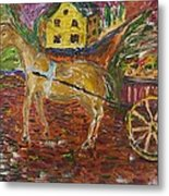 Horse And Cart Metal Print by Dozel Lake