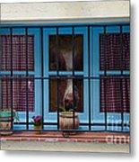 Horse Behind The Window Metal Print by Victoria Herrera