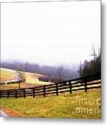 Horse Farm In Rocky Mt Va Metal Print by Angelia Hodges Clay