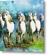 Horse Paintings 005 Metal Print by Catf