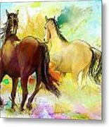 Horse Paintings 009 Metal Print by Catf