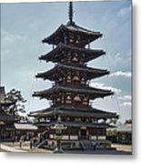 Horyu-ji Temple Pagoda - Nara Japan Metal Print by Daniel Hagerman