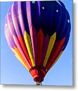 Hot Air Ballooning In Vermont Metal Print by Edward Fielding