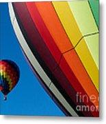 Hot Air Balloons Quechee Vermont Metal Print by Edward Fielding