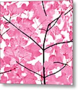 Hot Pink Leaves Melody Metal Print by Jennie Marie Schell
