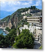 Hotel On Acronafplia Metal Print by David Waldo