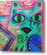 House Of Cats Series - Spike Metal Print by Moon Stumpp