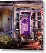 House - Porch - Cranford Nj - Lovely In Lavender  Metal Print by Mike Savad