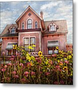 House - Victorian - Summer Cottage  Metal Print by Mike Savad