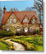 House - Westfield Nj - The Estates  Metal Print by Mike Savad