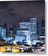 Houston City Lights Metal Print by David Morefield