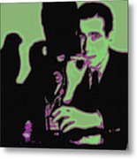 Humphrey Bogart And The Maltese Falcon 20130323 Square Metal Print by Wingsdomain Art and Photography