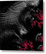 Hunger - Dark And Blood Red Fractal Art Metal Print by Matthias Hauser