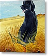 Hunting Day Over Metal Print by Darlene Prowell