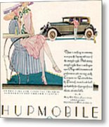 Hupmobile 1927 1920s Usa Cc Cars Metal Print by The Advertising Archives